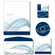 Stockvektor : Corporate Identity Template Vector - letterhead, bus. and gift cards, cd, e