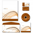 Corporate Identity Template Vector - letterhead, bus. and gift cards, cd. - Stock Vector