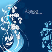Abstract Floral Background. Eps10 Format. — Stock Vector