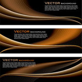 Abstract Vector Backgrounds. Set of three. — Stock Vector