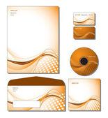 コーポレート ・ アイデンティティのテンプレート ベクトル - レターヘッド、バス。ギフト カード、cd のと. — ストックベクタ