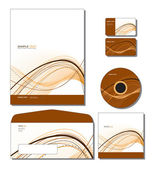 Corporate Identity Template Vector - letterhead, bus. and gift cards, cd. — Stock Vector