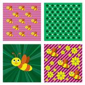 Bee Background. — Stock Vector