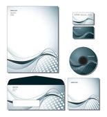 Vetor de modelo de identidade corporativa - papel timbrado, negócios e cartões do presente — Vetorial Stock