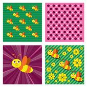 Bee Background.. Vector Eps10 Format. — Stock Vector