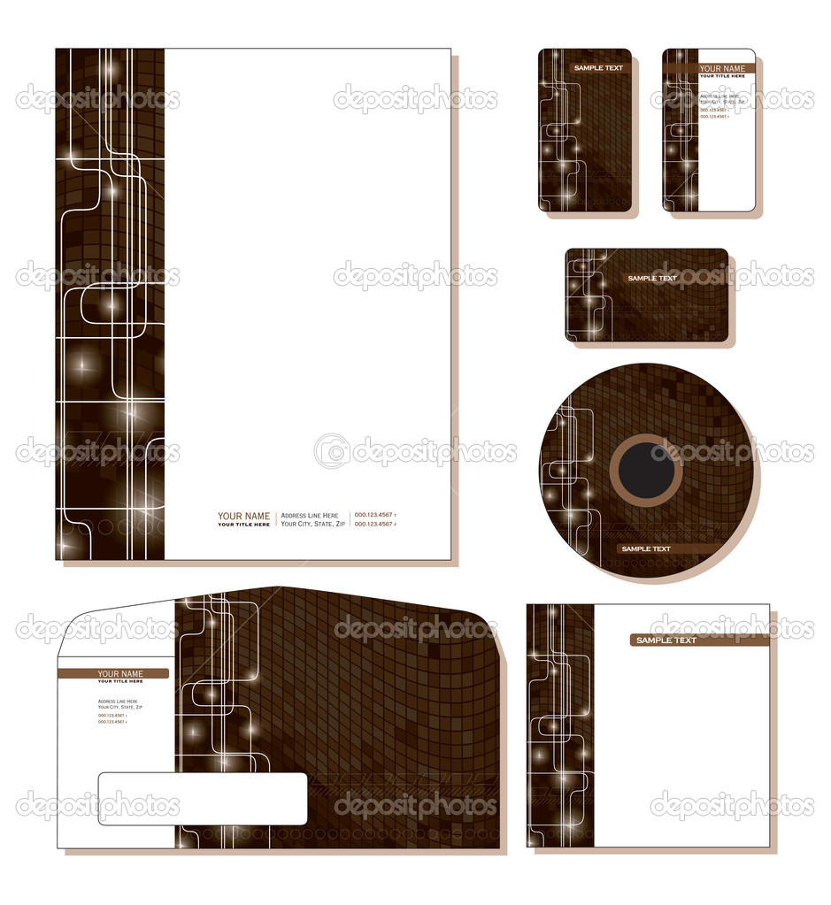 Corporate Identity Template Vector - letterhead, business and gift cards, cd, dvd, cd cover, envelope. — Stock Vector #9247372