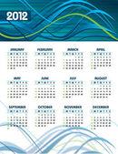 Calendario 2012. — Vector de stock