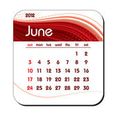 Calendario 2012. en junio. Eps10. — Vector de stock