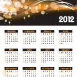 2012 年カレンダー — ストックベクタ #9536555