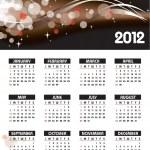 2012 年カレンダー — ストックベクタ #9536559
