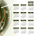 2012 Calendar. — Stock Vector