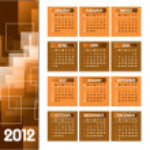 2012 Calendar. — Stock Vector #9536607