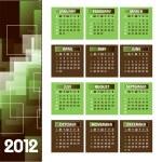 2012 年カレンダー — ストックベクタ #9536610