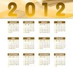 2012 Calendar. — Stock Vector #9536621
