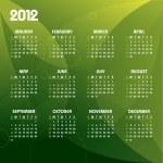 2012 Calendar. — Stock Vector #9536626