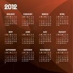 calendário de 2012 — Vetorial Stock  #9536636