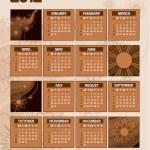 2012 Calendar. — Stock Vector #9536657
