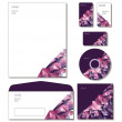 Corporate Identity Template Vector - letterhead, business cards, cd, cd cover, envelope. — Imagen vectorial