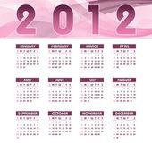 Calendario 2012. — Vettoriale Stock