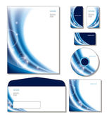 Corporate Identity Template Vector - letterhead, business cards, cd, cd cover, envelope. — Stock Vector