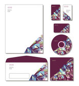 Corporate Identity Template Vector - letterhead, business cards, cd, cd cover, envelope. — Stok Vektör