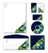 Corporate Identity Template Vector - letterhead, business and gift cards, cd, cd cover, envelope. — Stock Vector