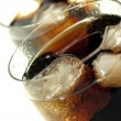 Glass of cola — Stock Photo
