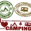 Camping stamps — Stock Vector