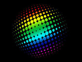 Halftone circle with rainbow colors — Cтоковый вектор