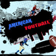 Urban american football background — Stock Vector