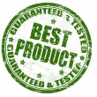 Guaranteed & tested - best product stamp — Stock Vector