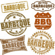 Stock Vector: Barbeque stamps