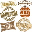 Barbeque stamps — Stock Vector #8126624