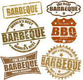 Barbeque stamps — Stok Vektör
