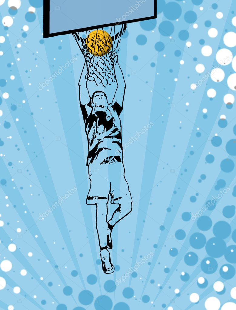 Basketball grunge poster background, vector illustration  Stock Vector #8126610