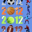 Happy new year 2012 sport concept — Imagen vectorial