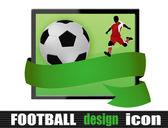 Футбольный значок дизайн — Cтоковый вектор