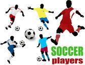 Jugadores de fútbol — Vector de stock