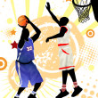 Basketball poster — Vettoriali Stock