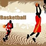 Dirty basketball poster — Stock Vector #8285409