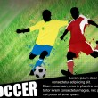 Royalty-Free Stock Vector Image: Soccer poster background