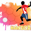 Handball poster — Stock Vector #8351462