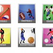 Set of a sport icons — Stock Vector