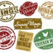 Royalty-Free Stock Imagen vectorial: Set of wings stamp