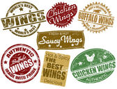 Set of wings stamp — Stockvector