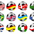 Royalty-Free Stock Vector Image: Set of soccer balls with flags
