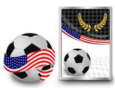 Futbol topu ve web simgesi — Stok Vektör