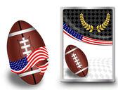 американский футбольный мяч и веб-значок — Cтоковый вектор