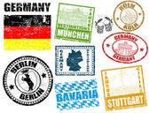 Almanya ile pul — Stok Vektör