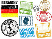 Stamps with Germany — Stock Vector